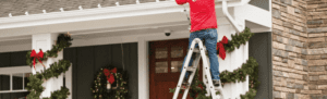 men on ladder